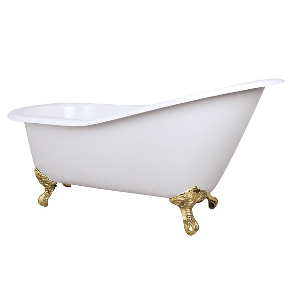 Aqua Eden Celeste 61.56 x 30.5 Freestanding Soaking Bathtub by Kingston Brass