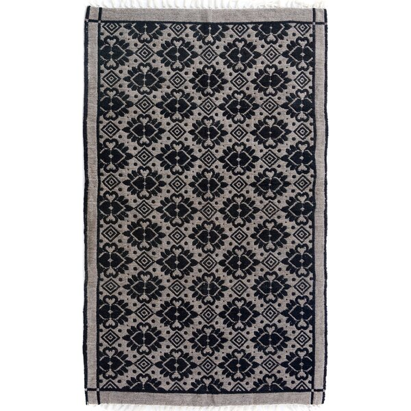 Rosalina Hand Woven Black/Gray Area Rug by Bloomsbury Market