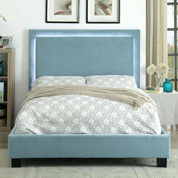 Cheserfo Padded Flannelette Upholstered Platform Bed by Ebern Designs