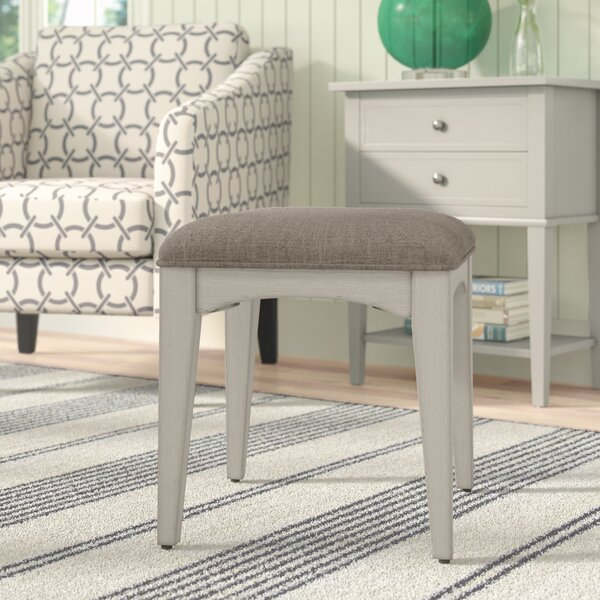 Trenton Vanity Stool by Rosecliff Heights