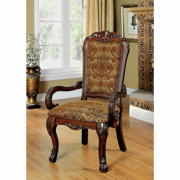 Robyn Upholstered Arm Chair In Cherry (Set Of 2) By Astoria Grand