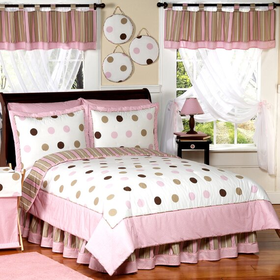 Mod Dots Pink Comforter Set by Sweet Jojo Designs