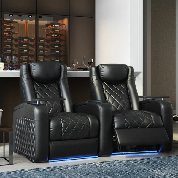Azure HR Series Curved Home Theater Recliner (Row Of 2) By Red Barrel Studio