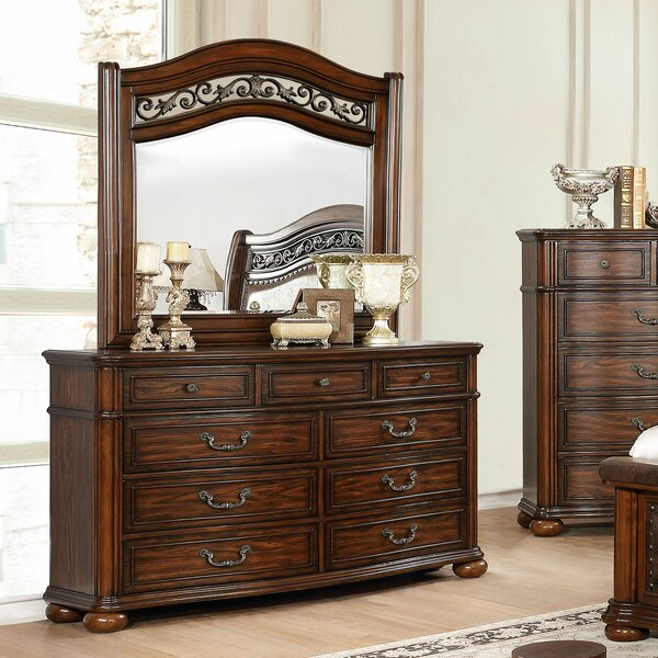 Mancheer 8 Drawer Double Dresser with Mirror by Canora Grey