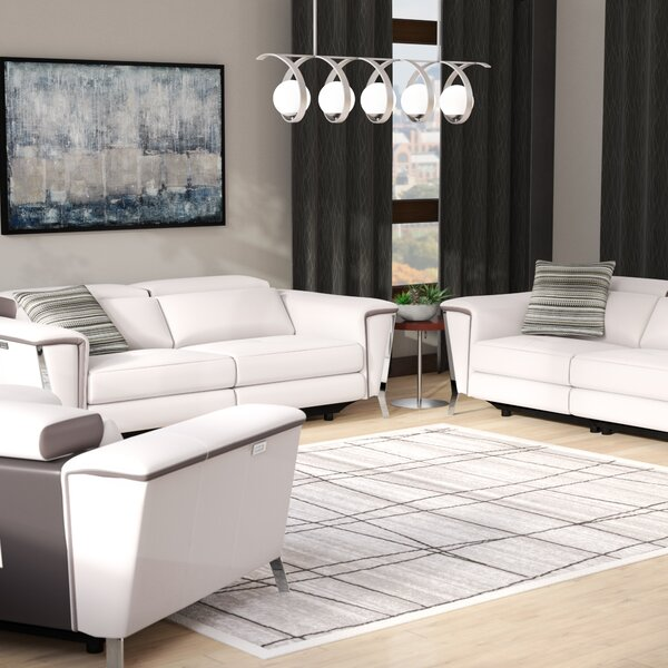 Baccus Reclining 3 Piece Leather Living Room Set by Wade Logan