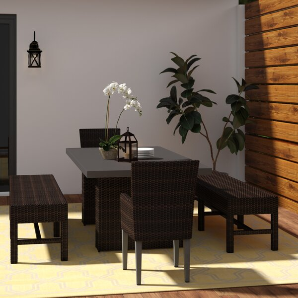 Fernando 5 Piece Dining Set with Cushions by Sol 72 Outdoor