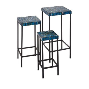Affordable Price Arvizu 3 Piece Mosaic End Table Set By World Menagerie