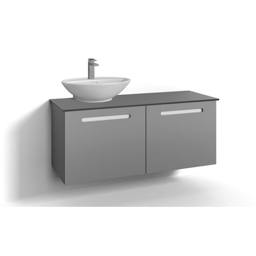 Soren 120cm Wall Mounted Vanity Unit Base Belfry Bathroom Base Finish: Grey