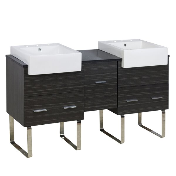 Mulberry Floor Mount 60 Double Bathroom Vanity Set by Royal Purple Bath Kitchen