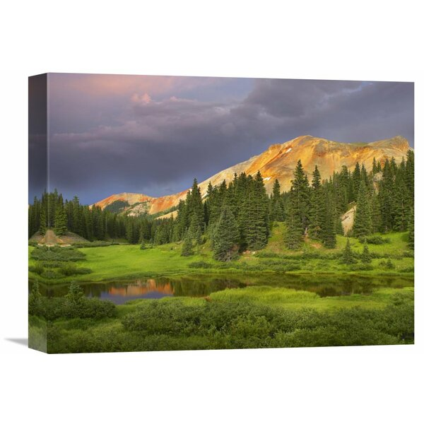 Nature Photographs Red Mountain and Pond, Near Ouray, Colorado by Tim Fitzharris Photographic Print on Wrapped Canvas by Global Gallery