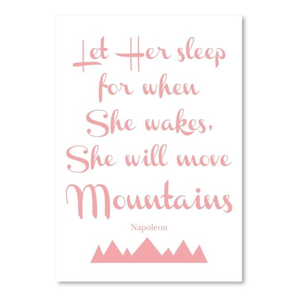 Let Her Sleep Mountains Paper Print by East Urban Home