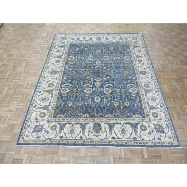 One-of-a-Kind Josephson Hand-Knotted Wool Blue Area Rug by Canora Grey