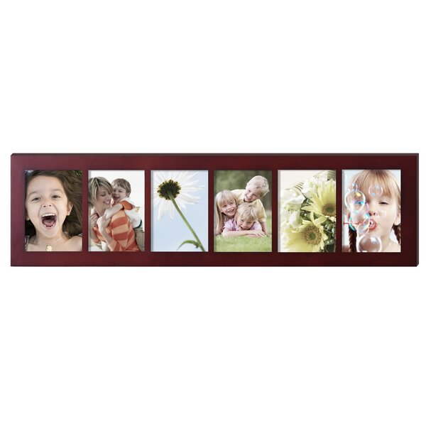 6 Opening Decorative Wall Hanging Divided Picture Frame by Adeco Trading