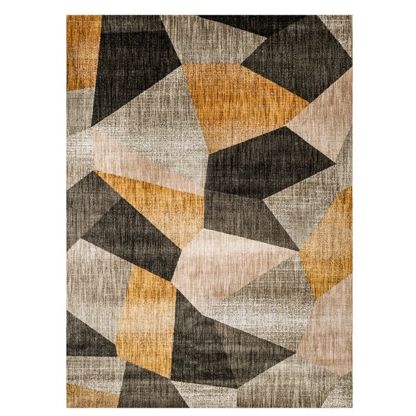 Magaw Gray/Yellow Area Rug by Ivy Bronx