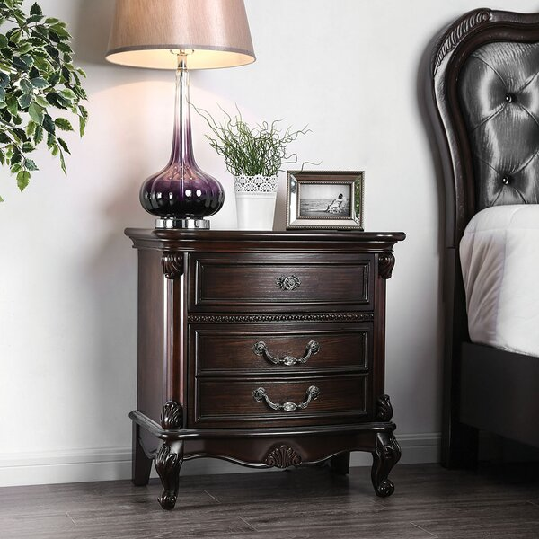 Steinbach 3 Drawer Nightstand by Astoria Grand