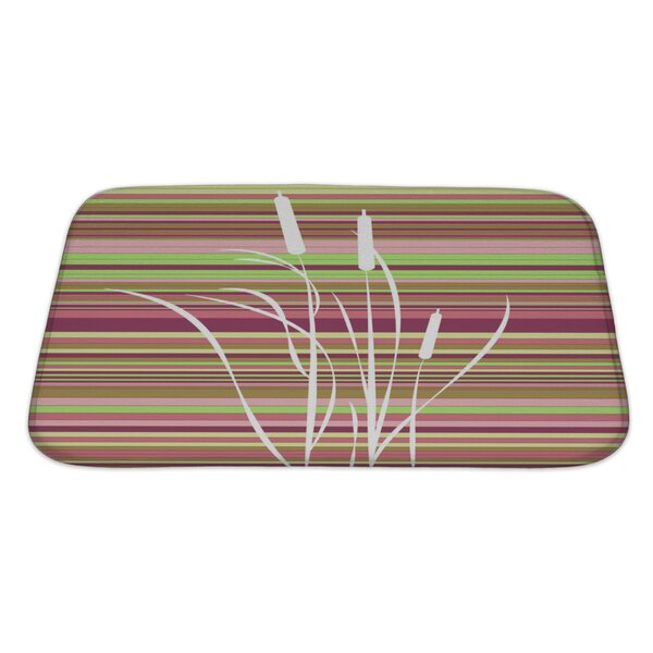 Gecko Abstract Flowers Bath Rug