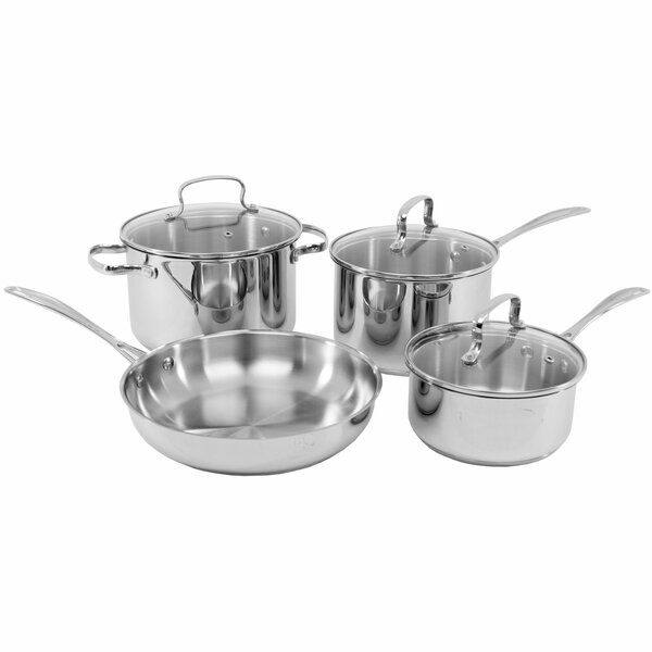 7 Piece Stainless Steel Cookware Set by Oneida