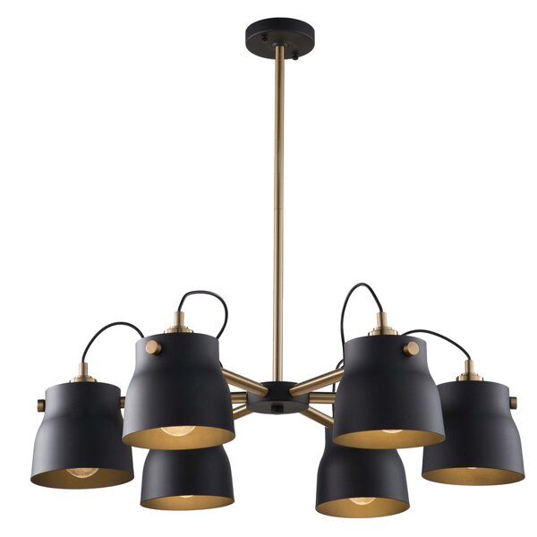 Johson 6 - Light Shaded Classic / Traditional Chandelier By Wrought Studio