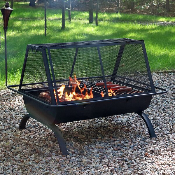 Lewisville Steel Wood Burning Fire Pit by Freeport Park