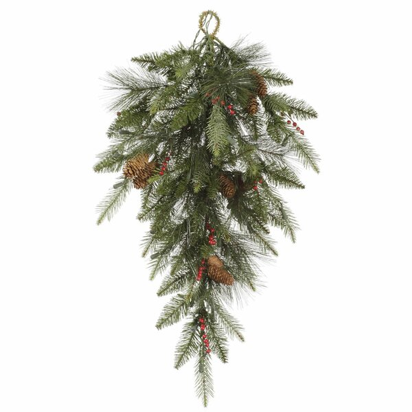 Teardrop Pine and Berry Artificial Swag by Vickerman