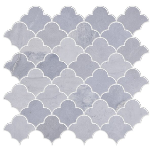 Whiteheaven 2 x 2 Marble Mosaic Tile in White by Byzantin Mosaic