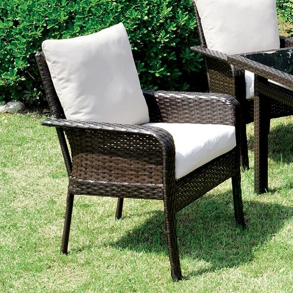 Kayo Patio Dining Chair with Cushion (Set of 2) by Brayden Studio