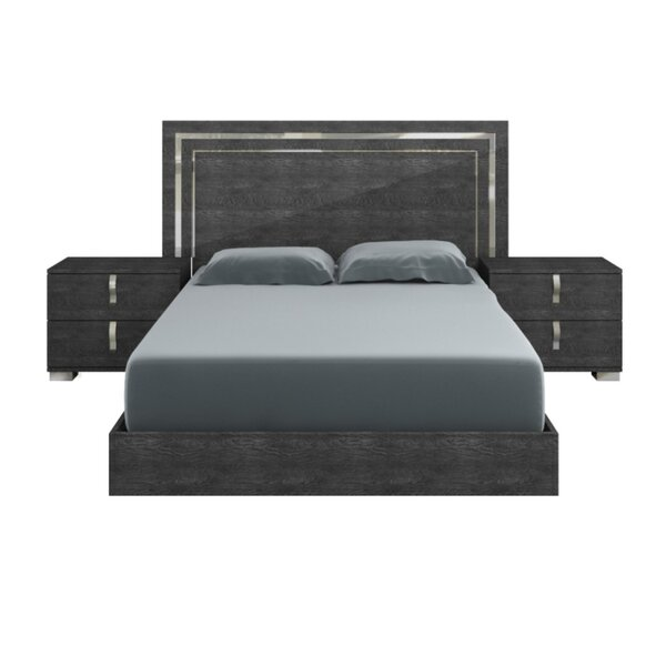 Winfield High Gloss Platform Bed by Orren Ellis
