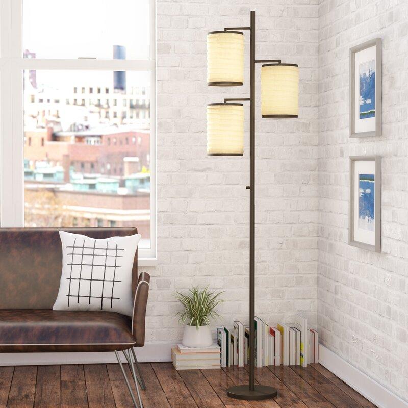 "Mercury Row Baysinger 74"" Tree Floor Lamp & Reviews"