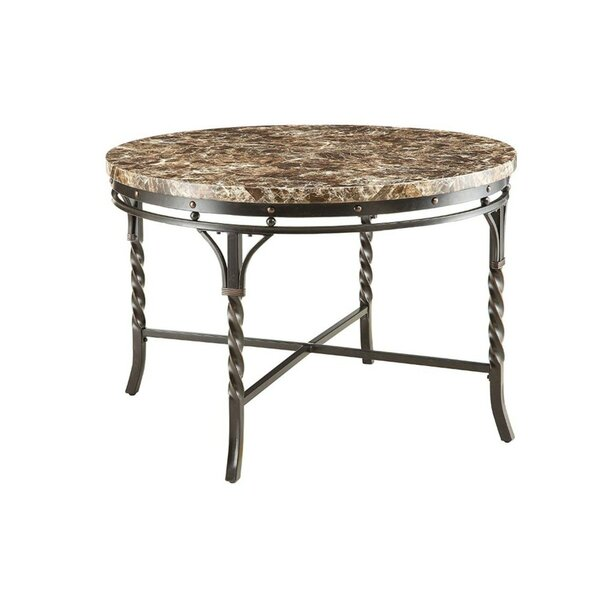Sparks Metal Frame Dining Table by Fleur De Lis Living