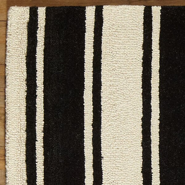 Tenley Black & White Rug by Birch Lane™