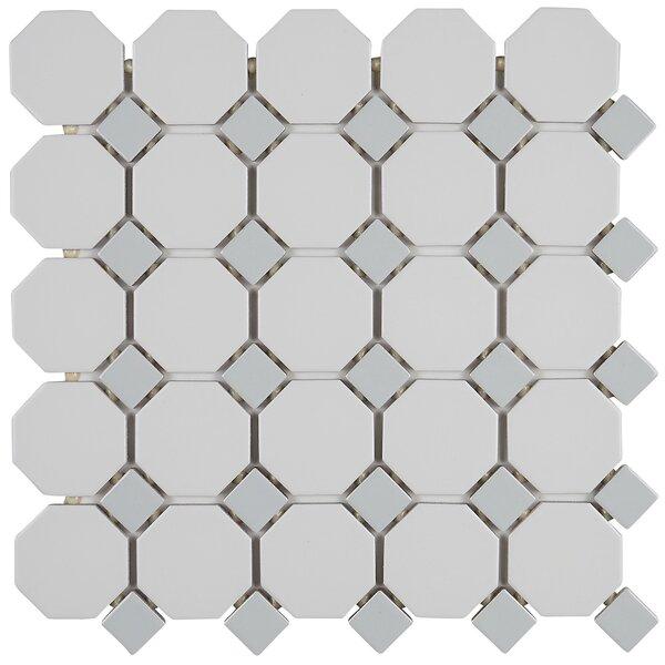 Osmond 12 x 12  Ceramic Mosaic Tile in Matte White Sheet by Itona Tile