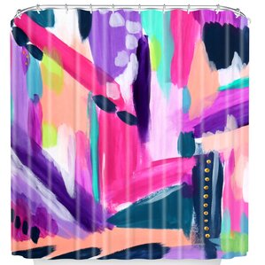 purple and teal shower curtain. Tulip Abstract Shower Curtain Modern Purple Curtains  AllModern