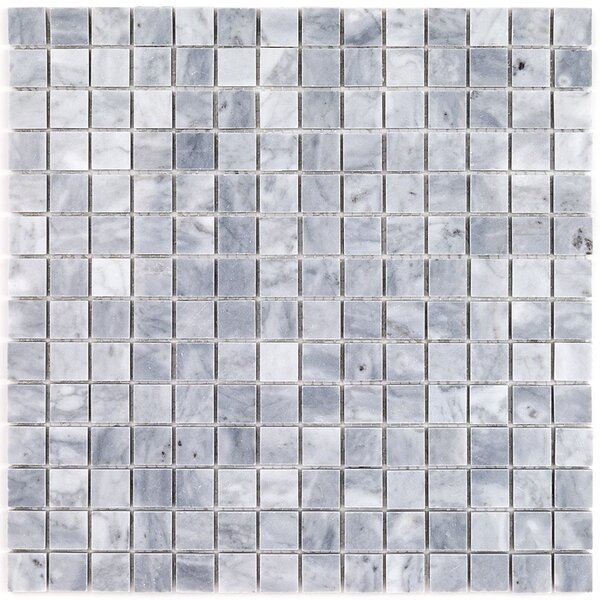 Bardiglio Nuvolato Brick Joint 0.8 x 0.8 Marble Mosaic Tile in Gray by Splashback Tile