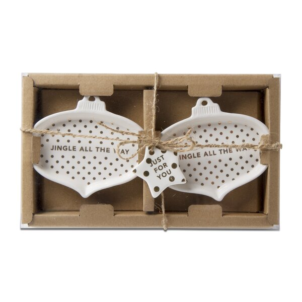 Jingle Fun Ornament Tidbit Platter (Set of 4) by TAG