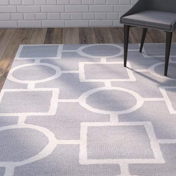 Martins Silver/Ivory Area Rug by Wrought Studio