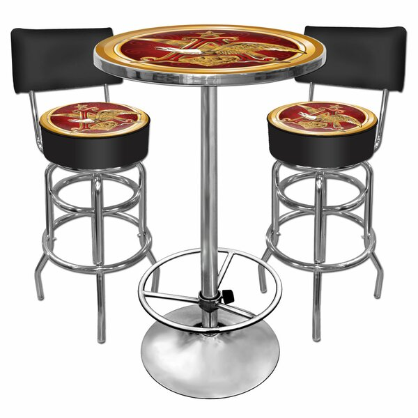 A and Eagle 3 Piece Pub Table Set by Trademark Global