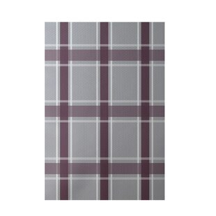 Flatweave Gray/Purple Area Rug by e by design