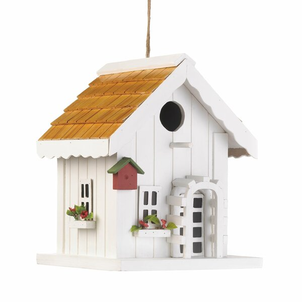 Coastal Cottage 9 in x 7 in x 7 in Birdhouse by Zi
