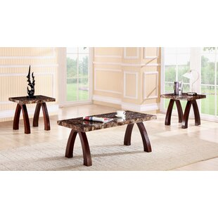 Best Choices Woodsen Faux Marble Wooden 3 Piece Coffee Table Set By Red Barrel Studio