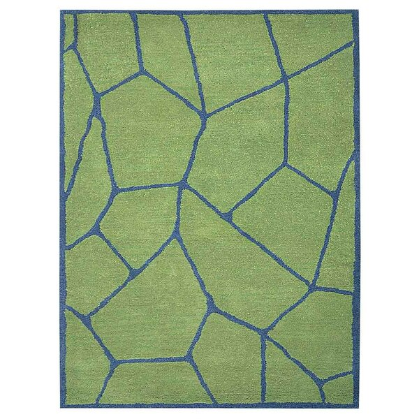 Freida Hand-Tufted Green/Blue Area Rug by Brayden Studio