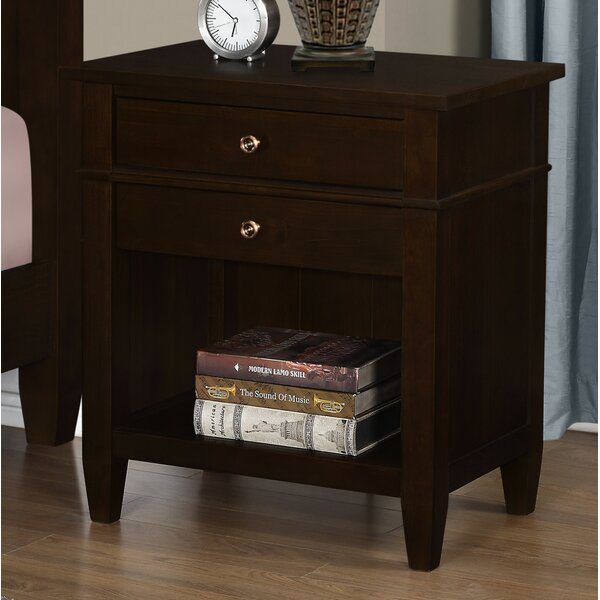 Gateshead 2 Drawer Nightstand by Three Posts