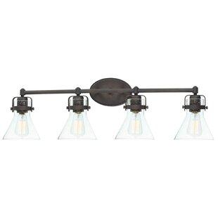 Haefner 4-Light Vanity Light ByWilliston Forge