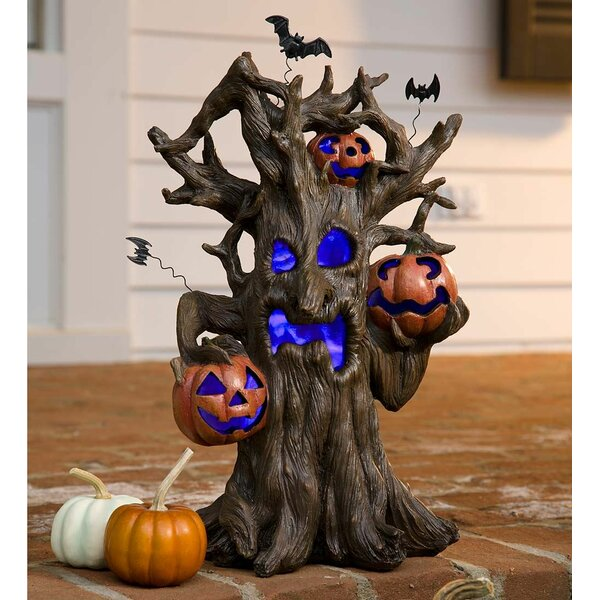 Lighted Spooky Tree Halloween Decoration by Plow &