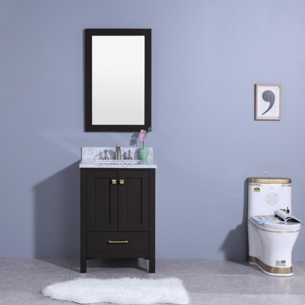 Bloomquist 25 Single Bathroom Vanity Set with Mirr