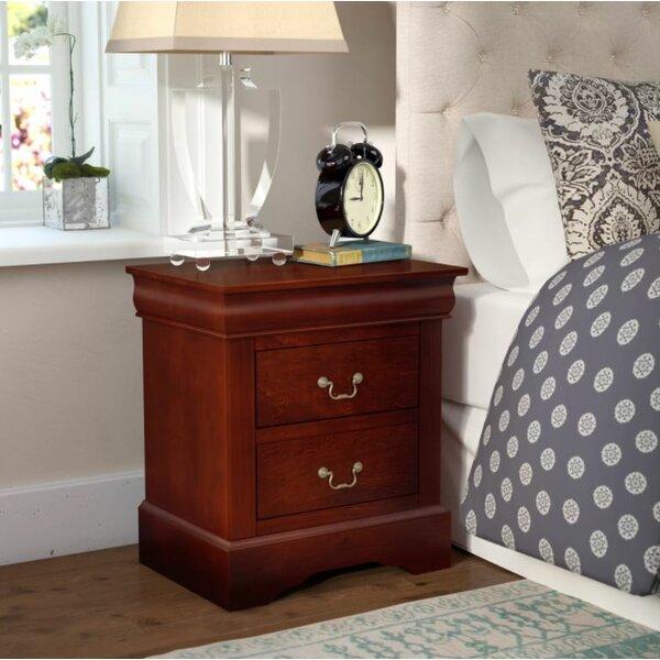Homestead 2 Drawer Nightstand by Three Posts