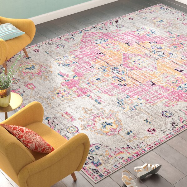 Diemer Magenta Area Rug by Bungalow Rose