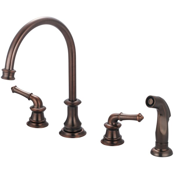 Del Mar Double Handle Kitchen Faucet with Side Spray by Pioneer