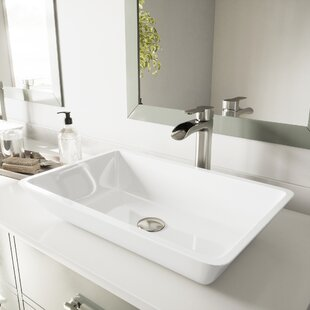 Inexpensive Phoenix Stone Rectangular Vessel Bathroom Sink By VIGO