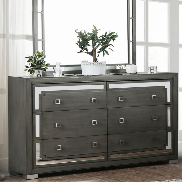 Vassilieva 6 Drawer Double Dresser by Latitude Run