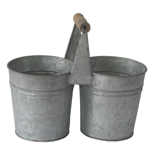 Metal Double Holder Pot Planter by Cheungs